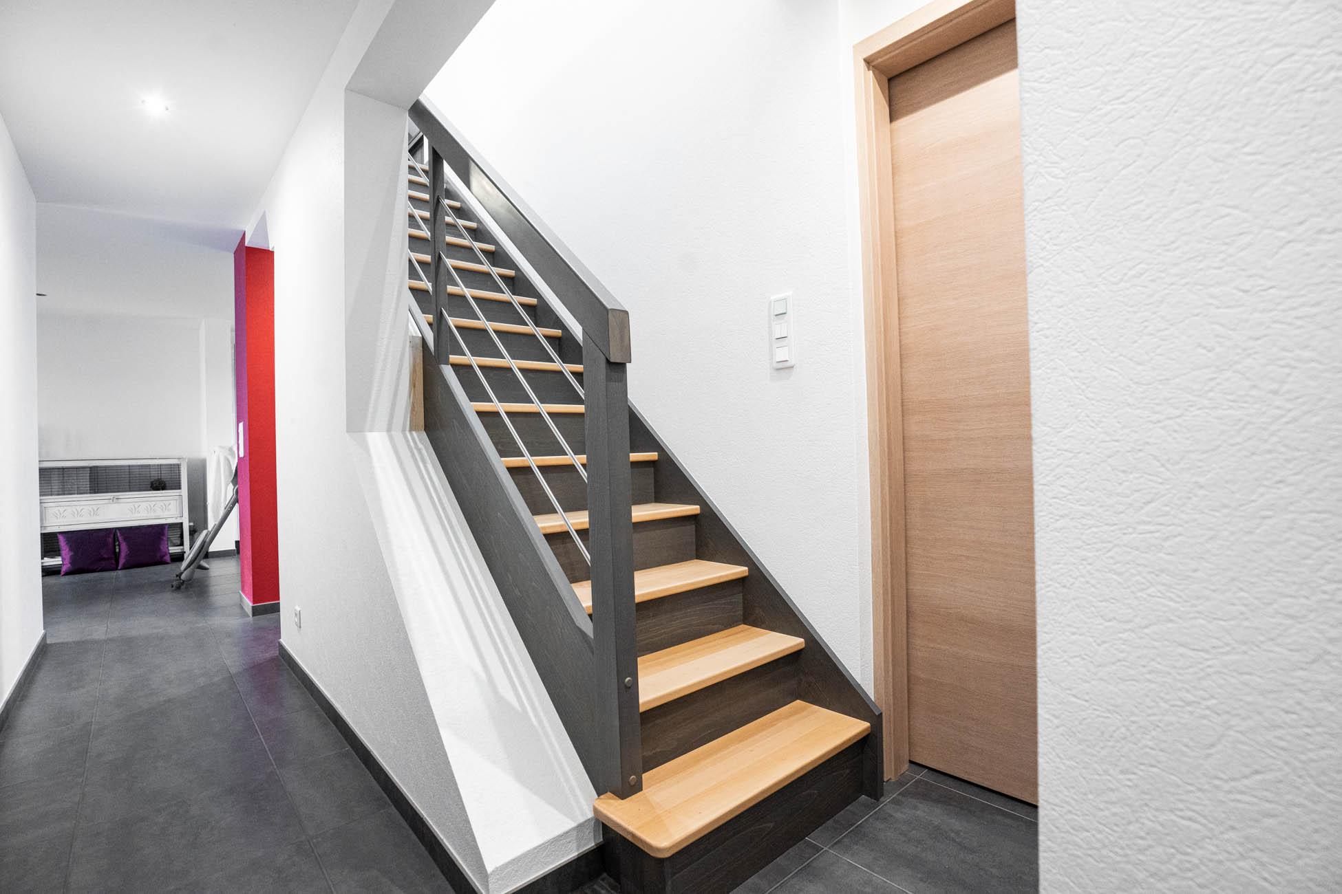Escalier bois niederbronn maison